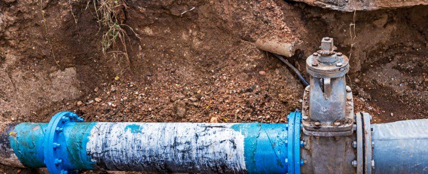 Leaking water line